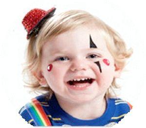 Аквагрим: малюємо клоуна. Фото з сайту http://3ladies.ru/