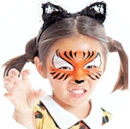Аквагрим тигра підійде і хлопчикові, і дівчинці. Фото з сайту http://3ladies.ru/
