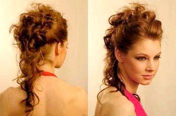 Зачіска на кучері. Фото з сайту https://100prazdnikov.ru