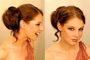 Зачіска з шиньйоном. Фото з сайту liveinternet.ru