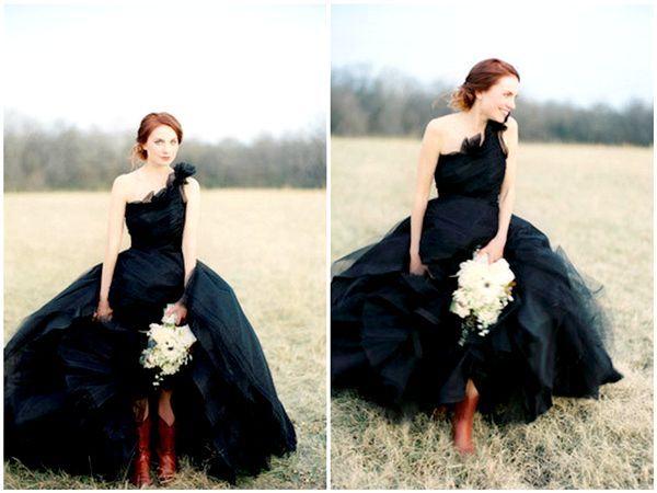 Фото - Чорне весільне плаття: виклик традиціям або спосіб виразити індивідуальність?