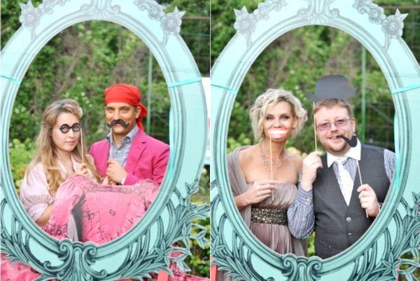 Як оформити фотозоні відповідно до тематики весілля. Фото з сайту vk.com