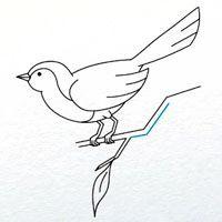 жак Превір як намалювати птаха