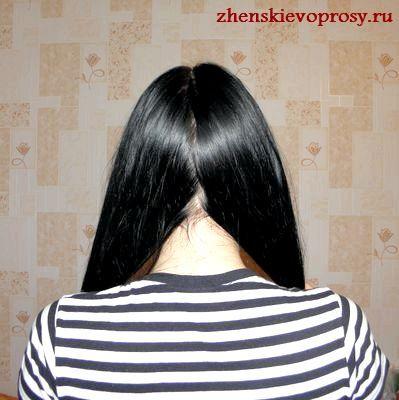 волосся діляться на два пасма