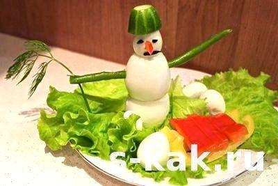 як зробити прикраса на стіл у вигляді сніговика