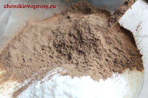 додати какао-порошок