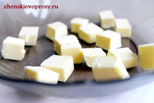 масло нарізати кубиками