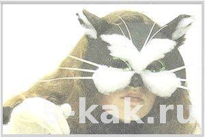 Як зробити маску кішки або кота з картону