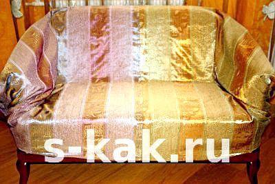 Зшити покривало на диван