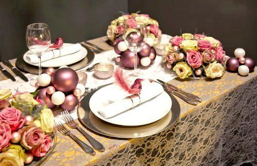 оформлення новорічного столу в стилі