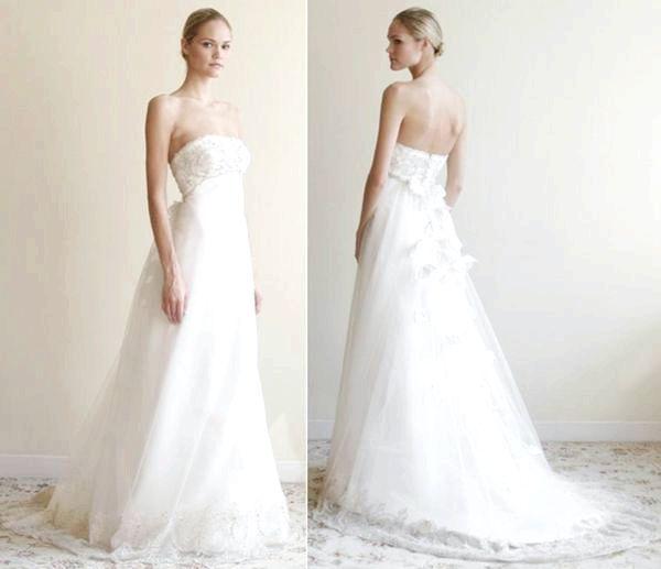 У чому переваги весільного плаття в стилі ампір. Фото з сайту onewed.com