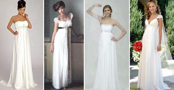 Весільні сукні ампір: різноманітність моделей. Фото з сайту 38nevest.ru