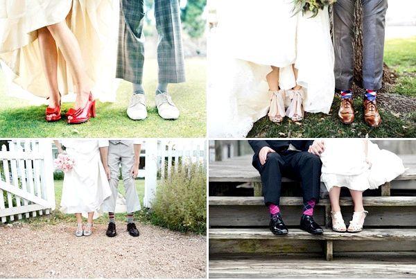 Фото - Нестандартна весільне взуття, або а вам слабо?