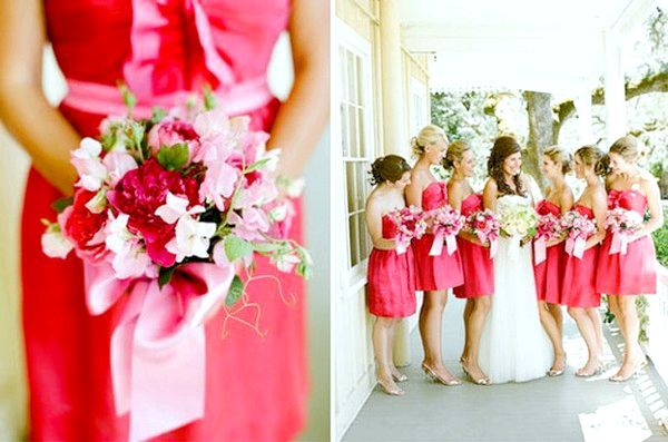 Стиль подружок нареченої - гармонійна весілля. Фото з сайту mir-svadba.ru