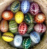 Фарбовані яйця на пасху