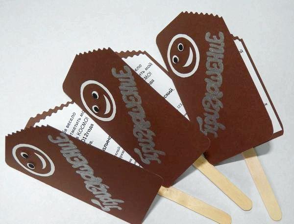 Запрошення у вигляді морозива на паличці. Фото з сайту podarokhandmade.ru
