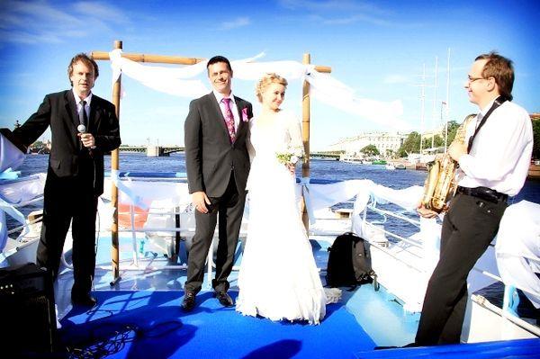 Романтичне весілля на теплоході. Фото з сайту teplohodspb.ru