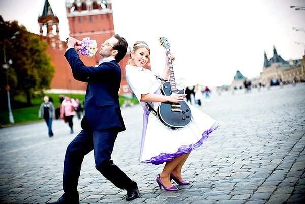 Весілля в стилі стиляг - яскраво і оригінально! Фото з сайту orgsvadba.com