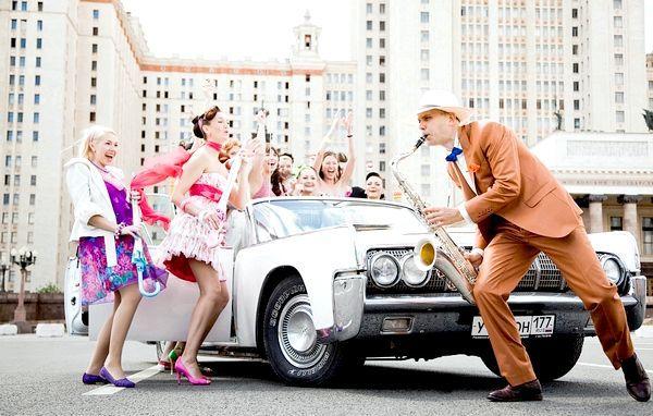 Весела весілля в стилі стиляг - така подія не забувається. Фото з сайту okfo.my1.ru