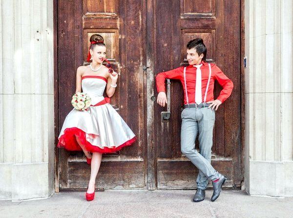 Оригінальна весілля стиляги - весело і яскраво! Фото з сайту fotoeff.ru
