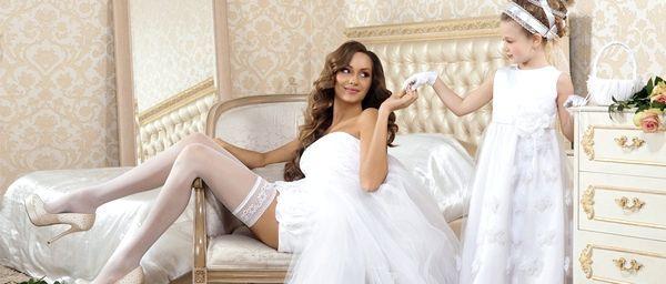 Модний аксесуар нареченої - панчохи і підв'язка. Фото з сайту tutbery.ru