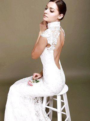 Фото - Весільна сукня з відкритою спиною, або як підкреслити красиву фігуру нареченої