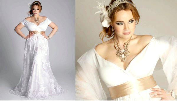 Красива модель весільного плаття з глибоким декольте. Фото з сайту trendays.ru