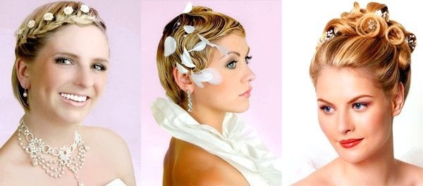 Варіанти весільні зачісок на коротке волосся. Фото з сайту berry-girl.ru