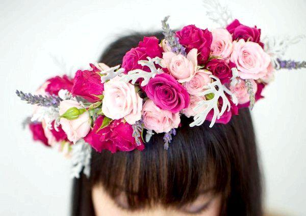 Фото - Вінок з квітів на голову. Як створити модний аксесуар самостійно?