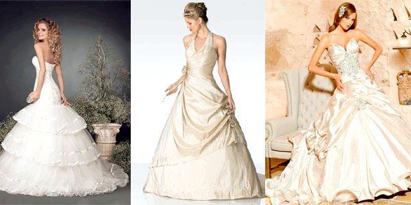 Фото - Вибираємо вбрання нареченої: весільна сукня кольору айворі